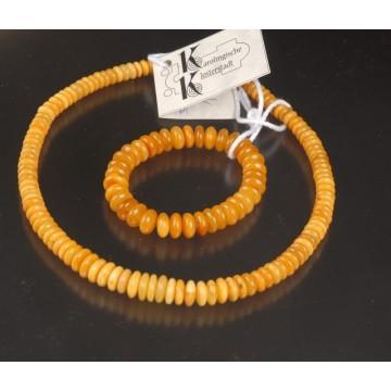 806.002 Bernsteinset -Kette+Armband