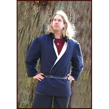 Hochwertige Jacke aus dem Spätmittelalter, Wolle/Leinen