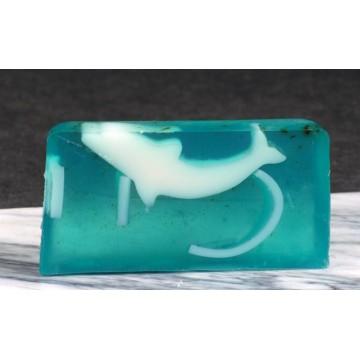 27 Aromatherapeutische Naturseife / Duftseife Delfin mit Wasserpflanzen