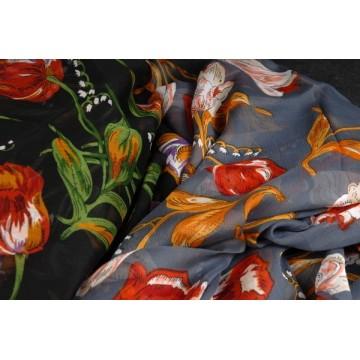 1669 Tuch mit Tulpen Muster