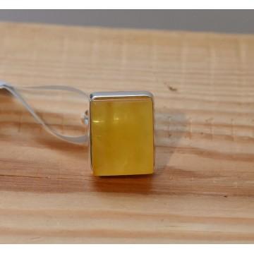 505.021 Danziger Bernstein Ring gelb - Heilstein, Naturstein Unikat Esoterik