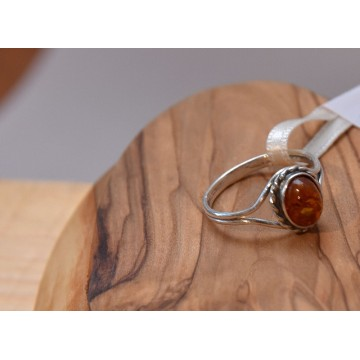 505.022 Danziger Bernstein Ring - Heilstein, Naturstein Unikat Esoterik