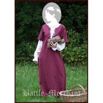 Mittelalterkleid überkleid Sanne, bordeaux