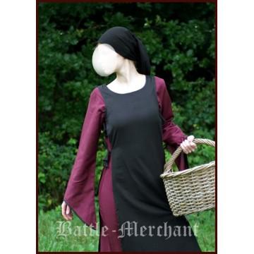 Mittelalterkleid Heske, schwarz/bordeaux